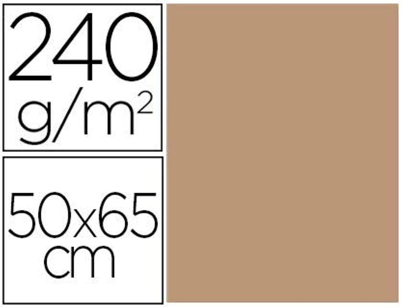 Liderpapel CX99 – Pack of 25 Cardstock, 50 x 65 cm, Sepia Colour