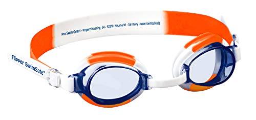 Flipper SwimSafe 1035 – Schwimmbrille für Kleinkinder ab 12 Monaten, verstellbar, mit UV Schutz und Antibeschlag, inklusive Brillenetui