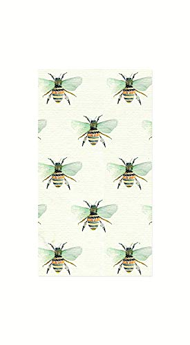 """Pack of 16 Bumble Bee Guest Size Paper Napkin 7.75"""" x 4.25"""""""