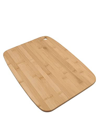 Vedmantra Cutting Board Large 38 X 28 X 0.8 cm ǀ 100% Real Bamboo with Antimicrobial Properties ǀ Reversible