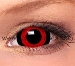 Farbige Mini Sclera Kontaktlinsen Lenses - 27 Modelle - 17mm, 1Paar (2 Stück), ohne Stärke, Gratis Behälter (Anime Tokyo Ghoul Mini Sclera)