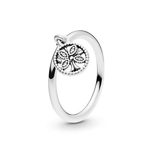 Pandora Damen-DREI-Stein Freundschaftsring 925_Sterling_Silber zirkonia '- Ringgröße 54 197782CZ-54