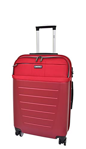 Medium Size Check-in Luggage 4 Wheel Hard Shell Lightweight Travel Trolley Suitcase Bag A166 Red