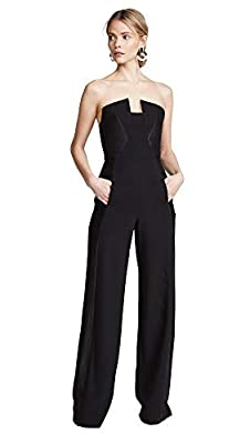Black Halo Women's Lena CB Jumpsuit, Black, 2