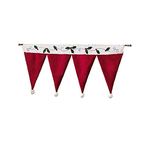 """Cortinas de Navidad, festoneado de cenefas para la cocina de madera de pino decorativa cenefa Darpes 35"""" x16"""