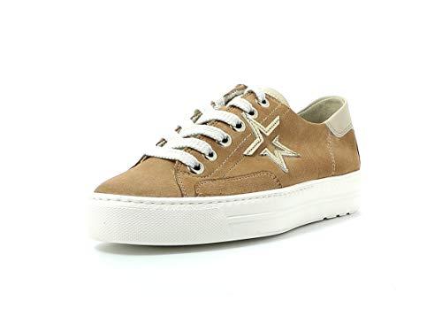 Paul Green Damen Sneaker 4810, Frauen Low-Top Sneaker, schnürschuh Plateau-Sohle weibliche Lady Ladies feminin elegant,Dakar/Biscuit,38.5 EU / 5.5 UK