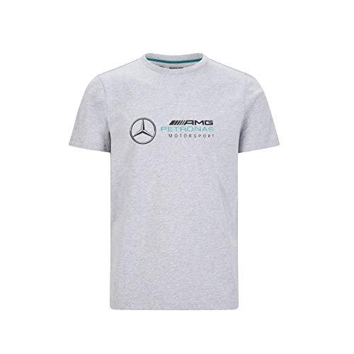 Mercedes-AMG Petronas Herren T-Shirt mit großem Logo, Herren, F1 - Großes Logo T-Shirt, grau, Medium