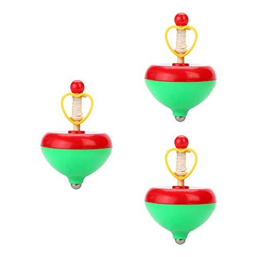 Tomaibaby 3Pcs Kinder Gyro Spielzeug Ziehen String Spinning Tops Neuheit Spin Gyroskop Spielzeug für Ostern Geburtstag Party Spielzeug Favor ( Gelegentliche Farbe )