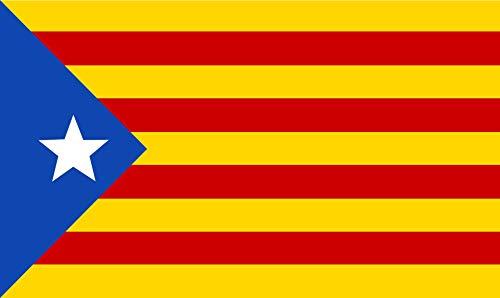 Edivoi Katalonien Flagge Katalanisch (Estelada Blava) 90 x 150 cm mit 2 Metallösen