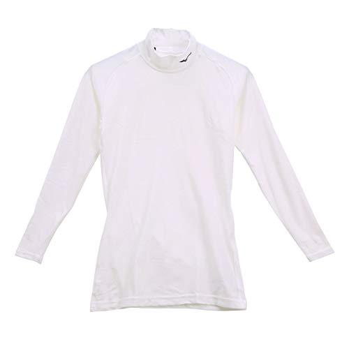 (ミズノ)MIZUNO (バイオギア)BIOGEAR ハイネック 長袖 シャツ メンズ 32MA8150(WH-ホワイト、L)