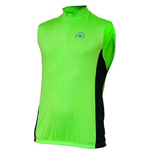 STANTEKS Ärmelloses Radtrikot Fahrradtrikot Fahrradshirt Funktionsshirt SR0040 (grün-schwarz, M)