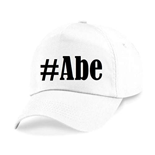 Reifen-Markt Base Cap Hashtag #Abe Größe Uni Farbe Weiss Druck Schwarz