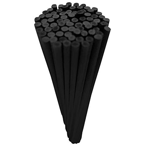 75 x schwarze Diffusor Sticks für Reed Diffusoren   20 cm x 3 mm   Schwarze Fibre Refills für ein duftendes Aroma aus Ihrem Reed Diffuser von Bloome