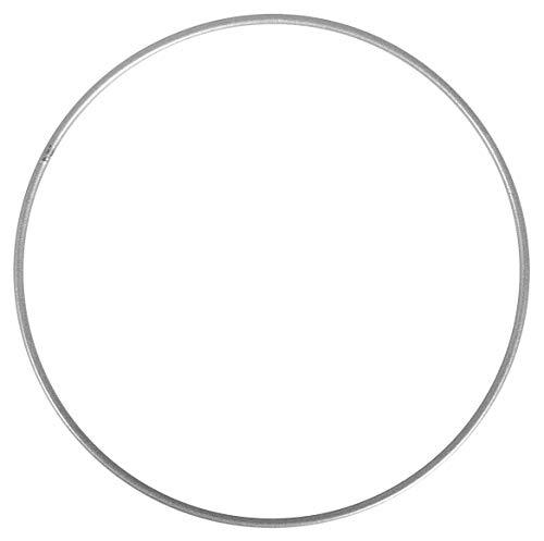 Bocotoer metalen ringen Craft Hoops Krans Ring voor DIY Craft, Zilver, 25cm