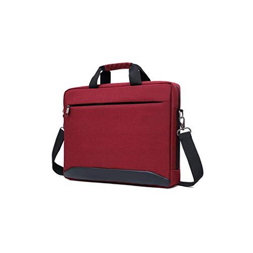 Aktenschränke Notebook-Taschen Roller Expanding Dateien und Mappen Personal Organizer-Aktenkoffer Tablet Sleeves (Color : Red, Size : 38 × 28 × 6cm)