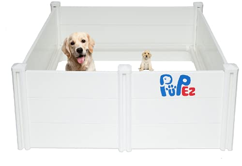 Whelping Box | Veterinarian Approved | Large Medium Small Dogs Puppies | 48' x 48' x 18' | All Breeds