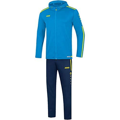 JAKO Damen Striker 2.0 mit Kapuze Präsentationsanzug, blau/Neongelb, 40