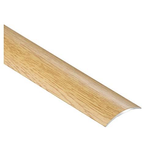 CEZAR W-AL-LPO30K-DS-090 Listón protector, perfil de transición con laminado, madera de roble con tacos estrechos, autoadhesivo, 30 mm