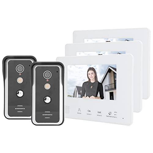 SALALIS Monitor de cámara de Puerta, función de Llamadas grupales Pantalla LCD...