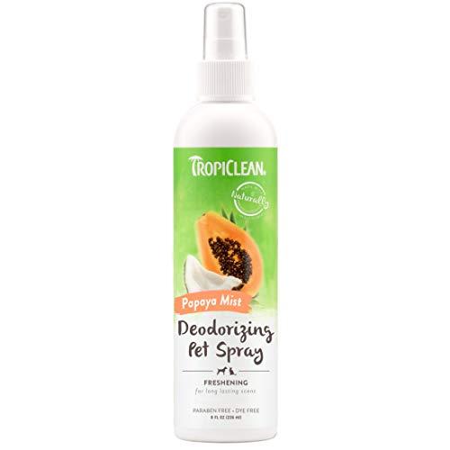 TropiClean Papaya Mist Deodorizing Pet Spray, 8oz - Helps Break Down Odors to Effectively Deodorize...