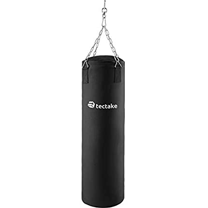TecTake Saco de Boxeo 25kg Lleno Saco de Arena con suspensión Robusta de Cadena | Altura 105cm