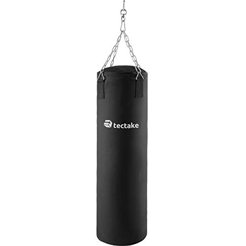 TecTake Sacco da Boxe Pieno 25kg con Sospensione a Catena | Robusto...