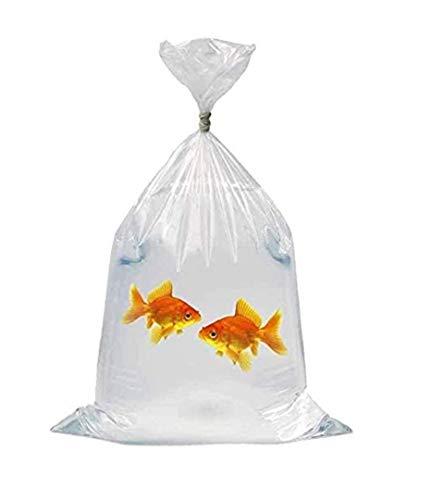 Lapwater Aquatics Ltd Transportbeutel für Fische, robust, 25 Stück, Folienstärke 0,2 mm, 43 x 15cm