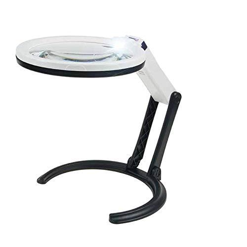 Lupe Licht Sucherlupen Desktop Reading Hd Handgriff 10Fach Faltbar Mit Tragbarer Licht-Led