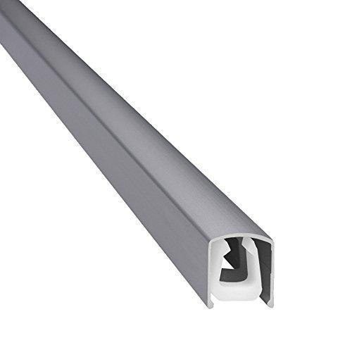 """Design Alu Kabelkanal \""""SLIM SHADE\"""" für TV , PC etc. - silber matt eloxiert - Länge 110cm - extra schmal - 110 x 1,6 x 1,8 cm - Verkleidung aus Aluminium - einfache Installation"""