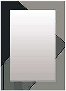 999Store Printed Black and Grey Abstract Mirror