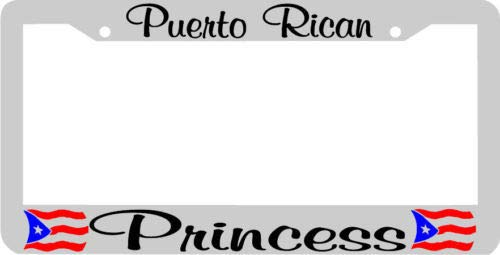 Yohoba Puerto Rican Princess Puerto Rico License Plate Frame