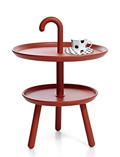 Suhu Couchtisch Klein Tisch Rund Gartentisch Kunststoff Kleiner Beistelltisch Runder Tische Outdoor Bistrotisch Mini Sofatisch Kaffeetisch Modern Dekotisch Für Wohnzimmer Balkon Und Terrasse Rot