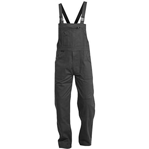 Sweat Life Charlie Barato Herren Arbeitshose schwarz - waschfeste Schwarze Latzhose - robuste Arbeitslatzhose (54)