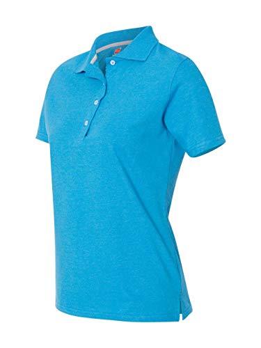 Hanes Damen X-Temp Performance Poloshirt - Blau - Groß