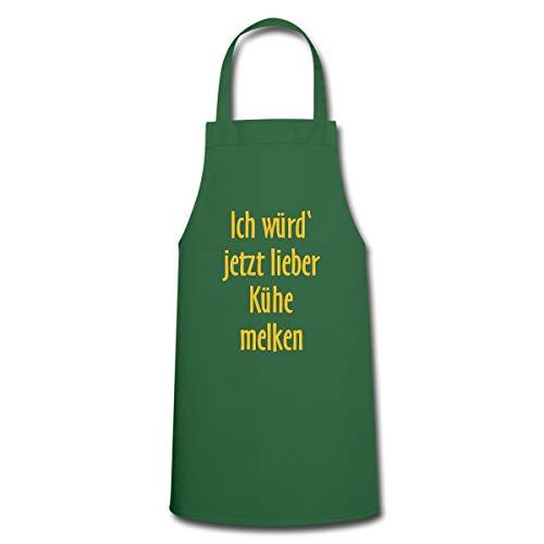 Ich Würd Jetzt Lieber Kühe Melken Spruch Kochschürze, Grün