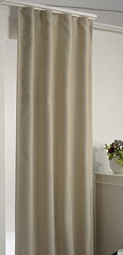 Arsvita Verdunkelungsgardine Vorhang mit Kräuselband, Farbe:beige, Größe:270 x 245 cm