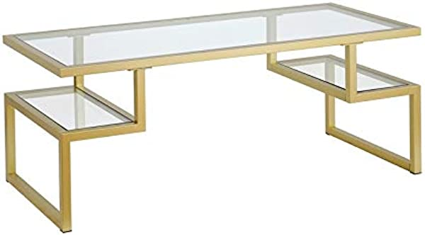 Henn Amp Hart Hollywood Gold Coffee Table