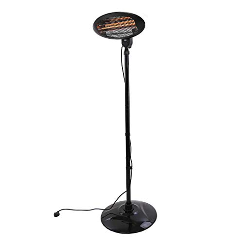 Gardenesque Electric Patio Heater with 2 Metre Power Cable, H200 cm, 650-2000 Watts