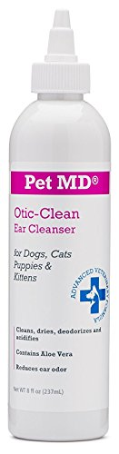 Pet MD Otic Clean Dog Ear Cleaner for Cats and Dogs - Effective Against Infections, Itching, and Controls Odor - 8 oz