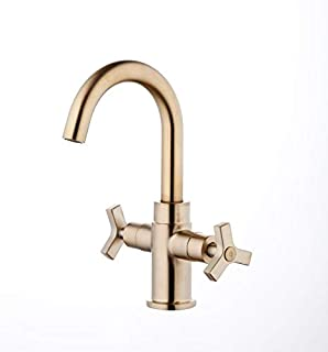 Derengge F-0081-CS Two-Handle Single Hole Bathroom Sink Faucet,French Brushed Bronze Finished