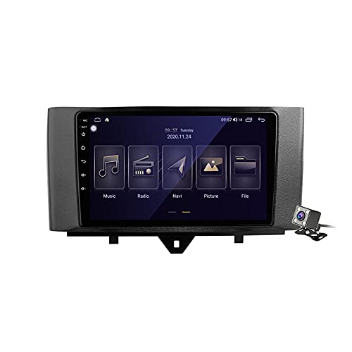 Android 11 Auto Audio Stereo GPS Navigatore con 9 Pollici Touch Screen per Mercedes Benz Smart Fortwo 2 2010-2015, Supporto FM RDS DSP Radio/BT Steering Wheel Control/Carplay,M150s