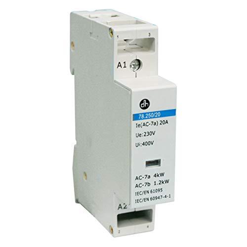 ElectroDH 7825020 DH 78.250/20OR CONTACTOR 20A / 230 VAC DE DOS POLOS