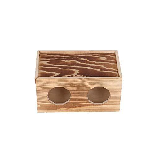 JCNFA planken houten kabel management doos, onder bureau opslag voor USB-kabels/Power Strip, poreus ontwerp, dubbelzijdig push-pull ontwerp, 5 maten, brandende kleur 22 * 13 * 11.5cm Burnt Color