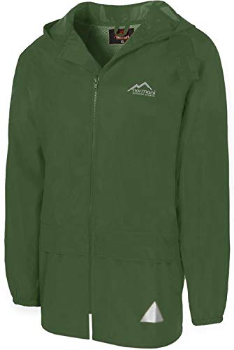 normani Leichte Windjacke/Regenjacke im Beutel, Unisex - Erwachsene Farbe Grün Größe 2XL