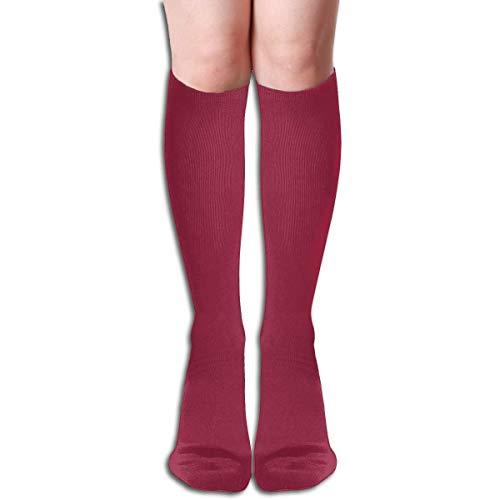 Calze alte da donna casual al ginocchio, amaro limone tinta unita novità moda morbido cotone calzini