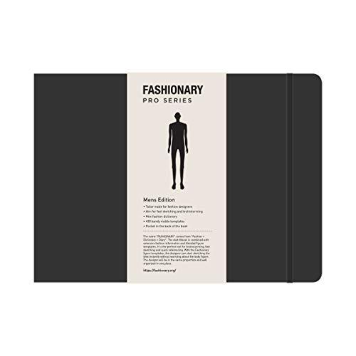 Fashionary: Fashionary Portfolio Mens Sketchbook A4