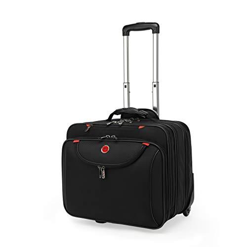Drappers Mission 17 Zoll Laptop Tasche Roller Bag Business Professional Travel Stoßfest Laptop Sleeve Übernachtungsfach Schwarz - Unisex - 37 Liter