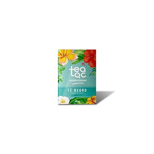 LA TETERA AZUL Te Negro Frío Sabor Mango. Infusión Fría En Polvo. Tea Tac. Caja Con 20 Sobres.