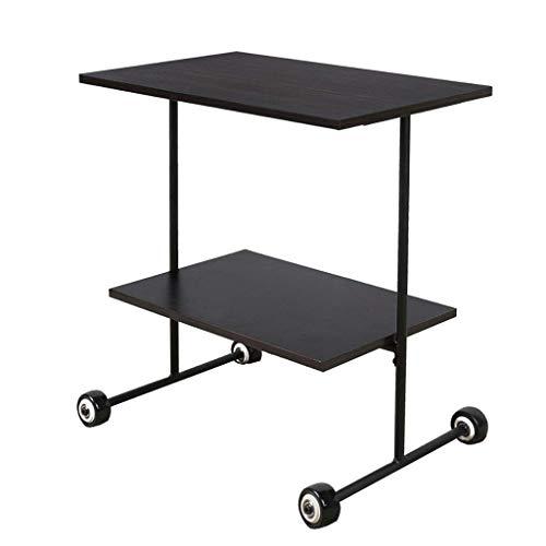 YLCJ Gereedschapswagen met wieltjes voor kantoor of opslag, 2 planken, zwart