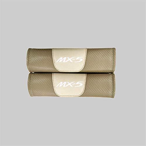 2 piezas de coches sefety cubierta de asiento del cinturón de Mazda MX5, transpirable fibra de carbono asiento de coche de la correa de ratón for adultos y niños, accesorios de la decoración Styling,